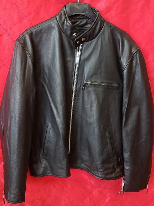 Men's leather shot motorcycle