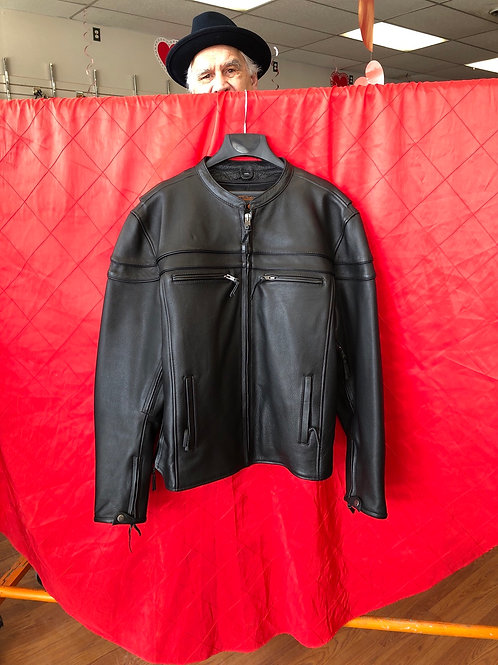 Men's leather motorcycle