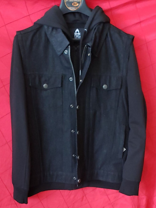 Hooded denim club vest
