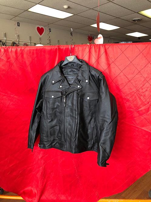Men's leather riding jacket