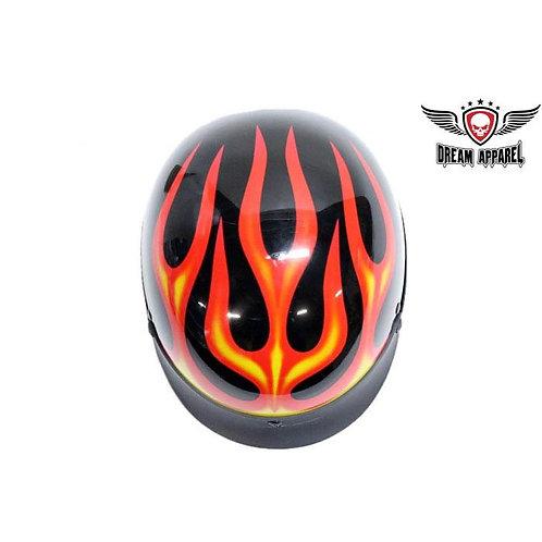 Flaming half helmet