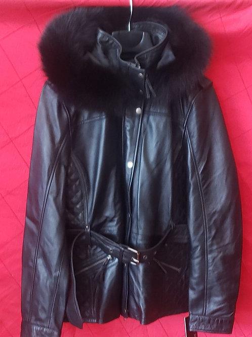 Ladies fox fur hoodie