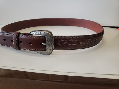 Brown leather fashion belt