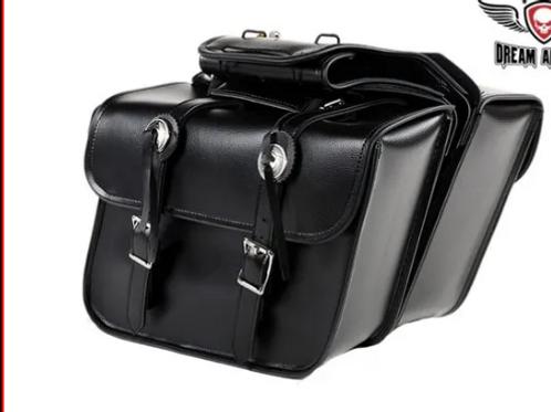 Leather saddlebags