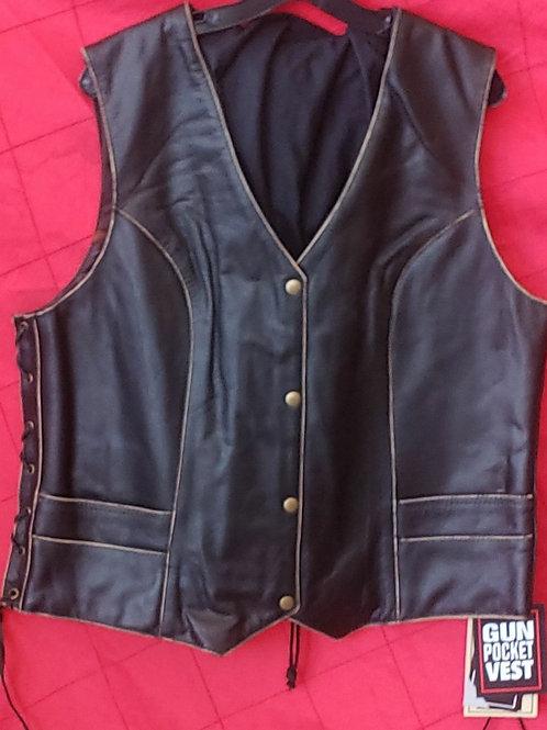 Ladies lace side vest