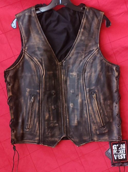 Ladies distressed vest