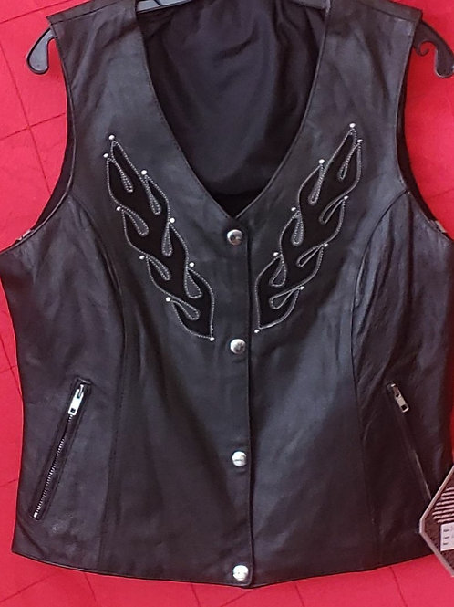 Flaming ladies vest