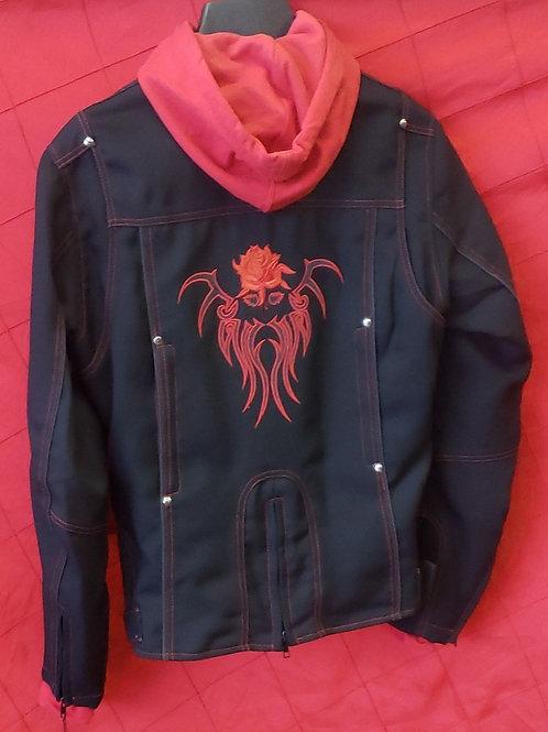 Ladies textlie hooded jacket
