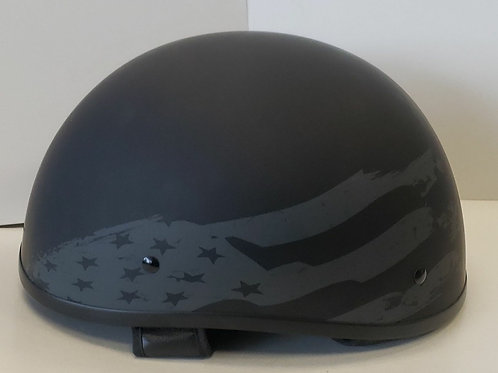 Matt blackl stars and stripes half helmet