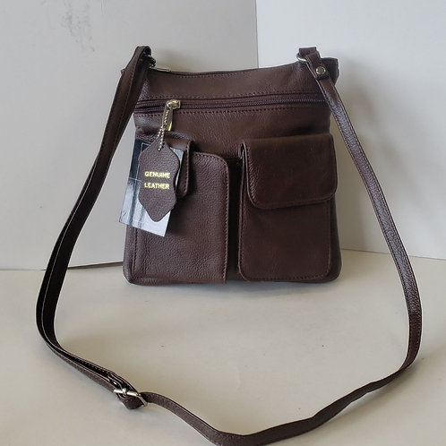 Leather Brown cross body purse