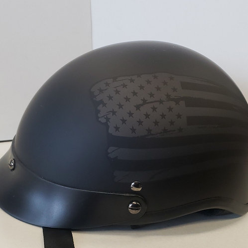 Faded flag half helmet
