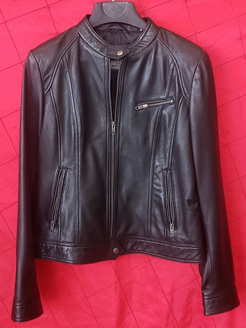 Ladies lambskin cafe jacket