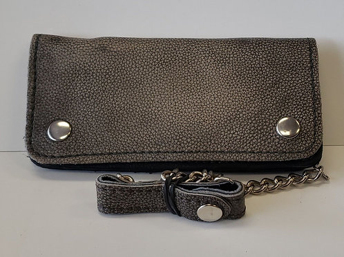 """Leather 8"""" Chain wallet"""