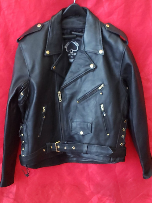 Mens classic motorcycle jacket