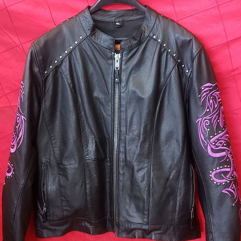 Ladies Purple snake jacket
