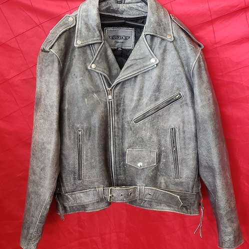 Men's distressed classic jacket