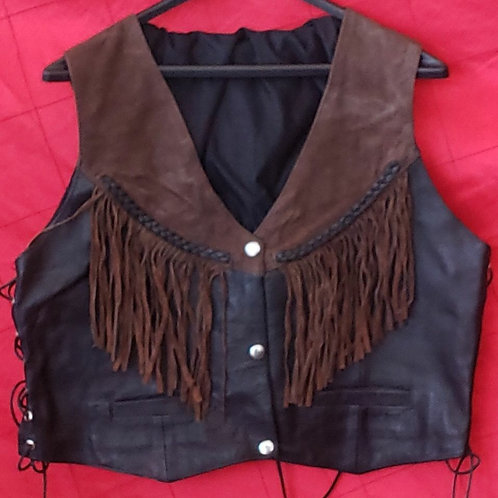 Ladies braided fringe vest