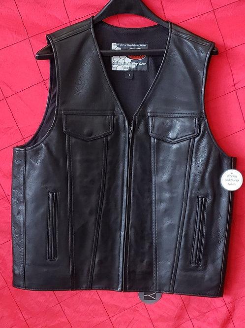 Leather V neck club vest