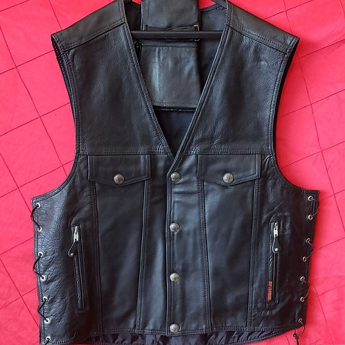Leather Buffalo nickel vest