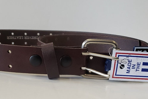 Brown double whole belt