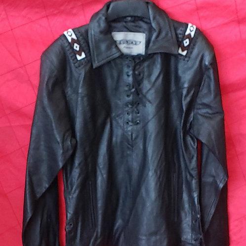 Man's beaded leather shirt