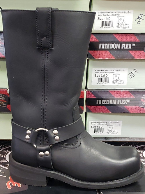 Steel toe harness boot