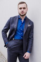 Flanelowy garnitur w wersji casual