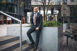 Flanelowy garnitur w wersji biznesowej