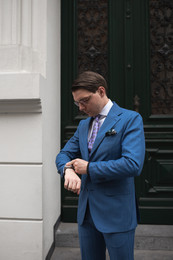 Niebieski garnitur solaro