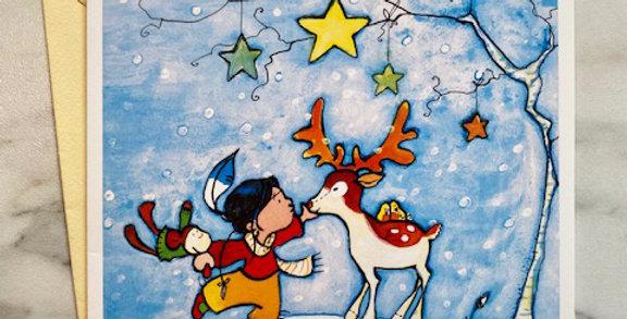 Kerstkaart 'Reindeer'