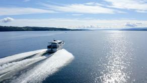 Charterbåt på Mjøsa