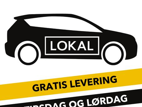 LOKAL- gratis hjemlevering frem til Påske