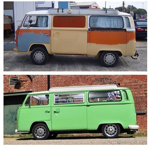 Before and after of my #arniethegreenmac
