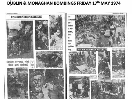 BOMBINGS - TERRORISM - PLATITUDES - BELTURBET - DUBLIN/MONAGHAN
