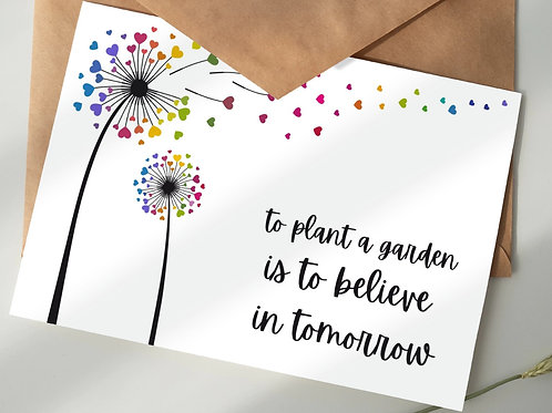 'Believe in tomorrow' - 5-pack wildflower seed gift set