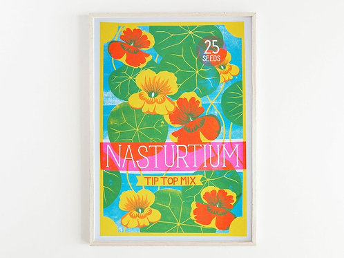 'Nasturtium Seeds' - A3 original risograph print