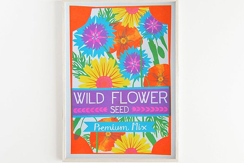 NEW - 'Wildflower Seeds' - A3 original risograph print