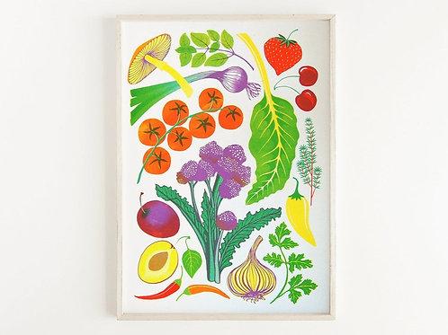 'Homegrown' - A3 original risograph print