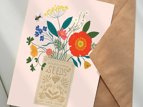 'Sow the seeds of love' - 5-pack wildflower seed gift set