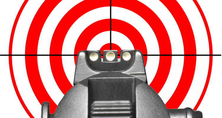 Good sight alignment is necessary for an accurate shot.