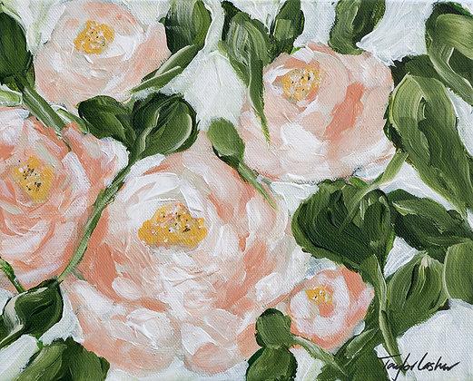 """""""Pretty in Peach"""" 8x10 Acrylic on Canvas"""