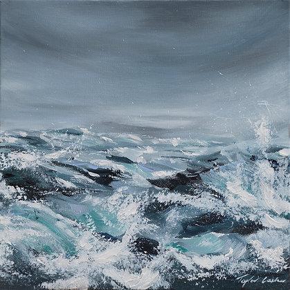 """Thunder Rolls"" 12x12 Original Acrylic Painting"