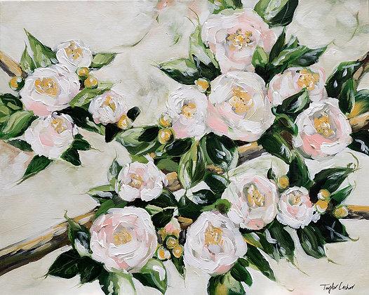 """Budding Beauty"" 16x20 Original Acrylic on Canvas"