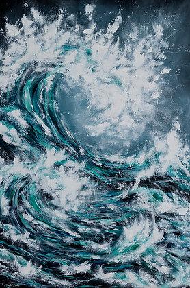 """Lake Superior"" 24x36 Original Acrylic on Canvas"