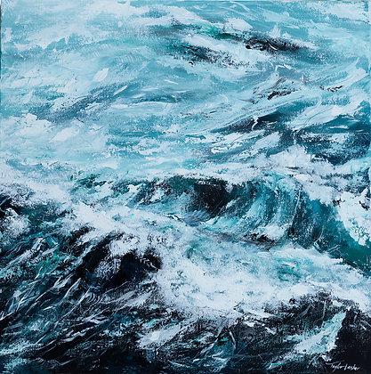 """Ocean of Eden"" 24x24 Original Acrylic Painting"