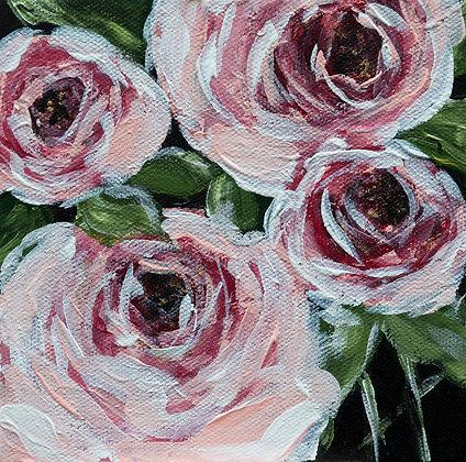 """""""Gather"""" 6x6 Acrylic on Canvas"""