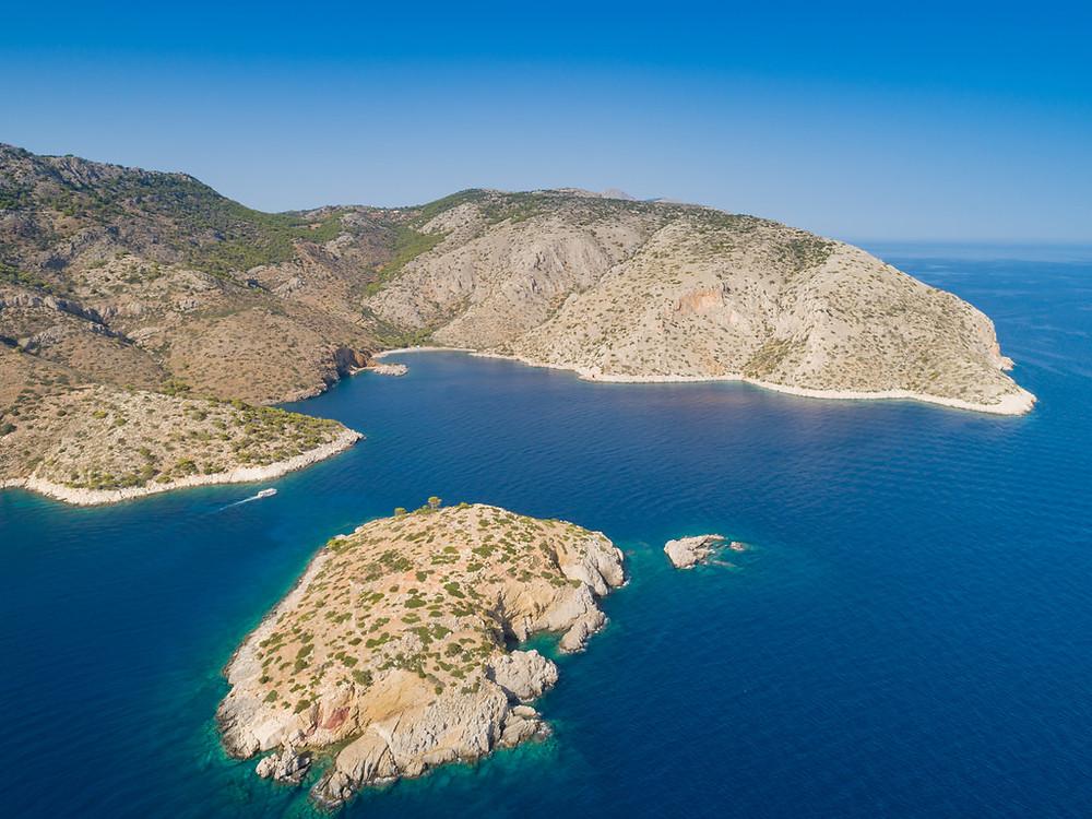 West side of greek island Hydra.