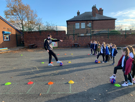 Marine in the Community Take First Steps Towards Coaching in Schools Again