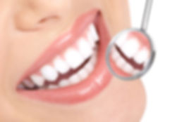 Healthy woman teeth and a dentist mouth
