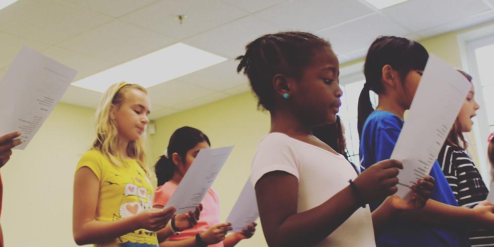 Vocal Morning Workshop for Children-Broadway (Ages 7 - 12)